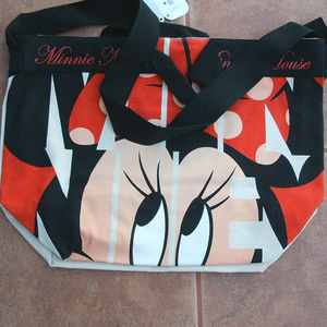 NWT/DISNEY JAPAN/MINNIE MOUSE/CANVAS TOTE
